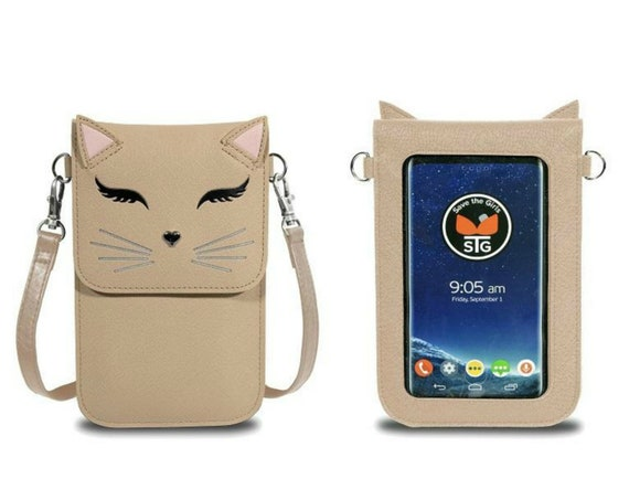 Cat Touch Screen Phone Purse