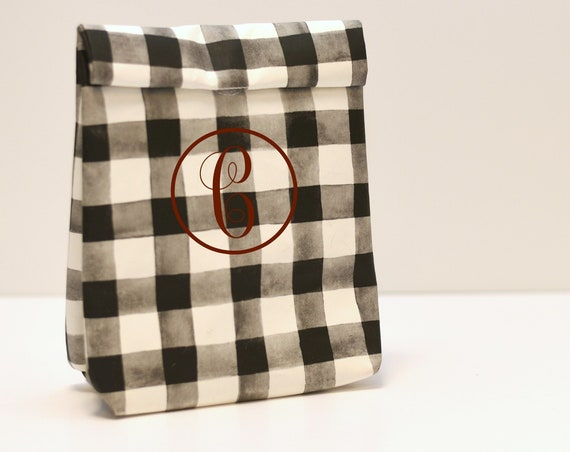 Buffalo Check Lunch Bag