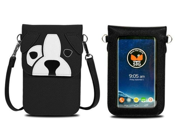 Black Dog Touch Screen Phone Purse