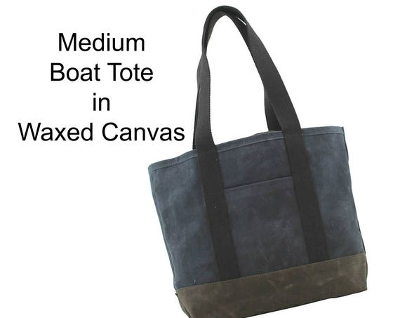 Medium Boat Tote in Waxed Canvas