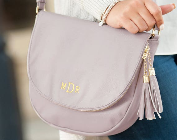 Sienna Tassel Bag in Blush Pink