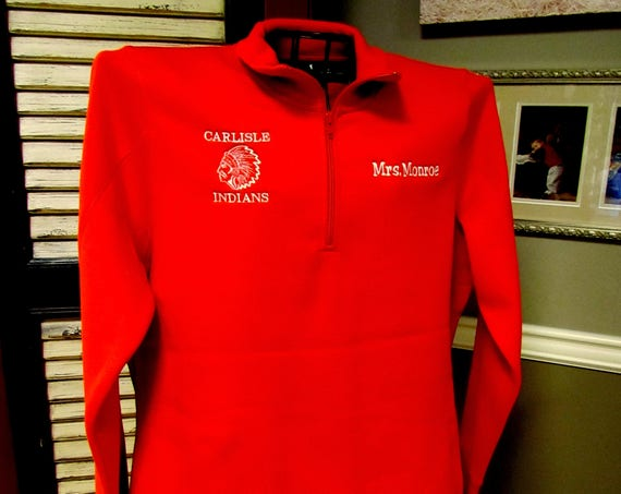 1/4 Zip Sweatshirt in RED!