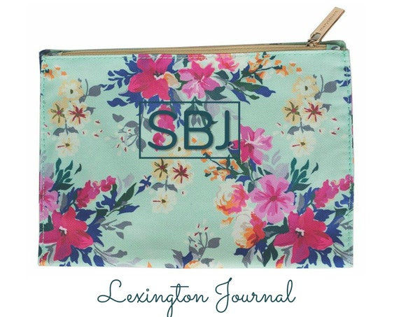 Monogrammed Lexington Lined Journal with Zippered Pocket