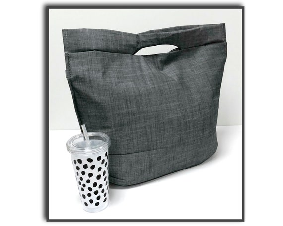 Grey Chambray Insulated Tote