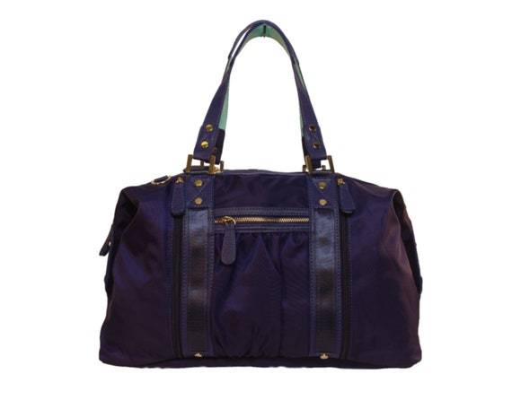 Navy Athlesiure Yoga Tote with Shoe and Wet/Dry Bags