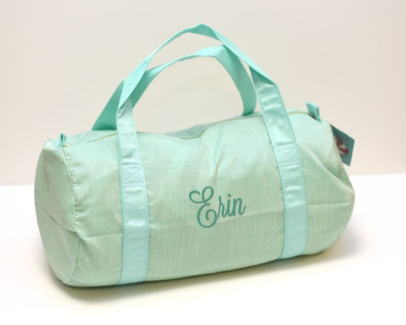 Mermaid Green Chambray Duffel Bag