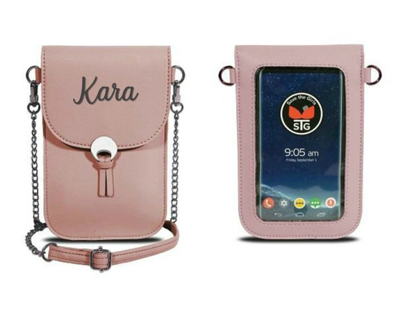 Pink Cherub Blush Touch Screen Phone Crossbody Purse