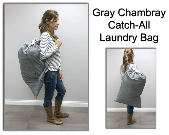 Grey Chambray Catch All (or Laundry Bag!)