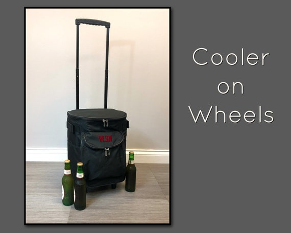Cooler on Wheels in Black