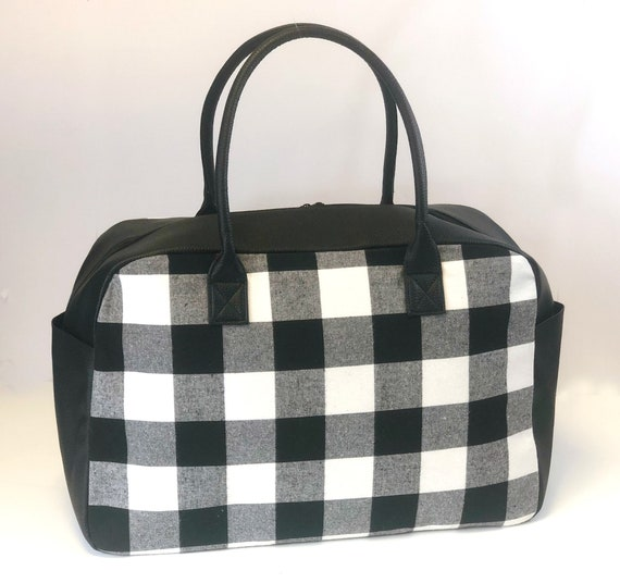 Black Buffalo Check Weekender Bag