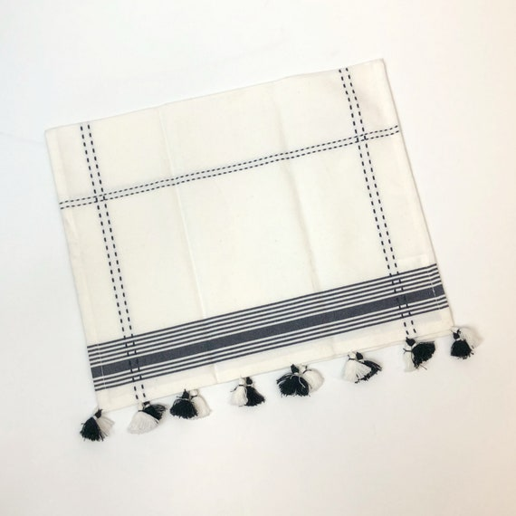 Cotton Dish Towel with Black Accents