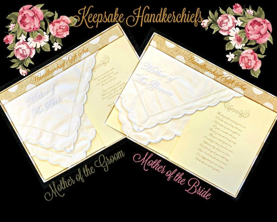 Mother of the Bride or Groom Keepsake Handkerchiefs