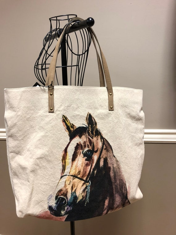 Canvas Horse Tote