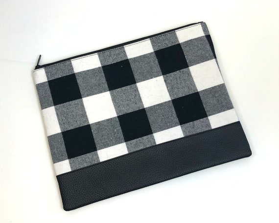 Black Buffalo Check Pouch