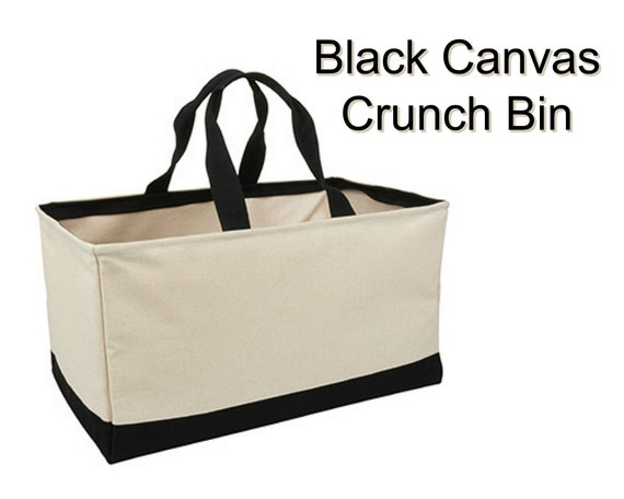 Black Canvas Crunch Bin