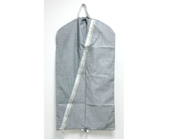Grey Chambray Garment Bag