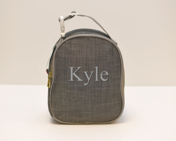 Grey Chambray Lunch Tote