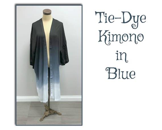 Tie-Dye Kimono in Blue