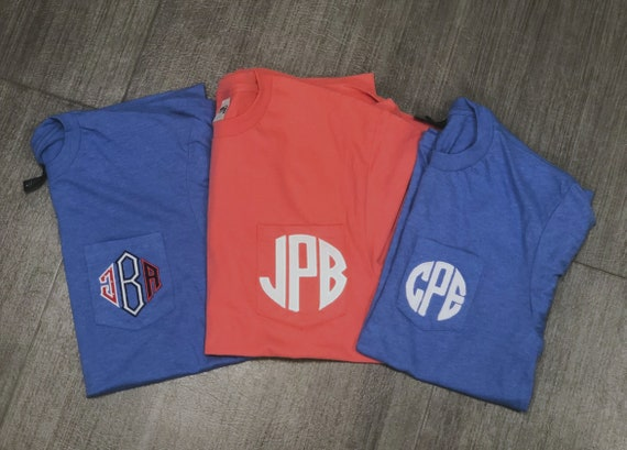Short-Sleeved Monogrammed Pocket T-Shirt
