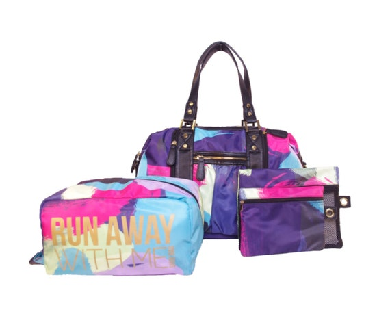 Paint Print Athlesiure Yoga Tote with Shoe and Wet/Dry Bags