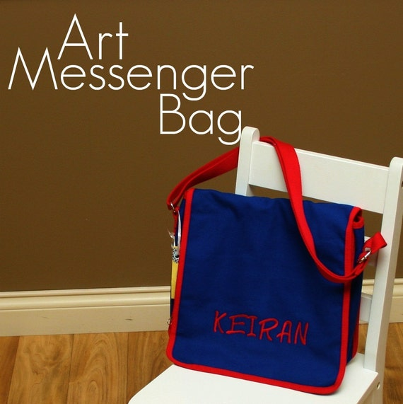Monogrammed Art Messenger Bag is Great for Travel