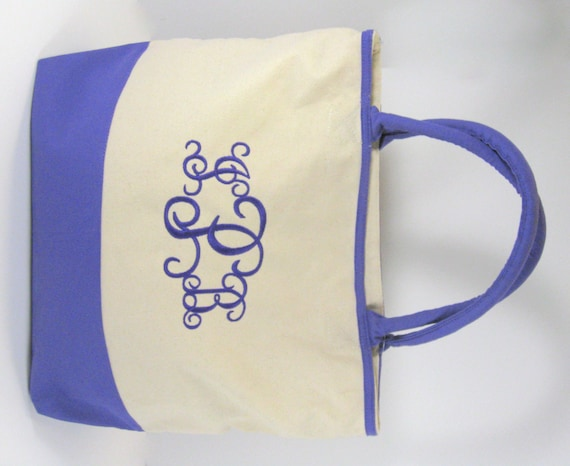 Deluxe Medium Purple Canvas Tote
