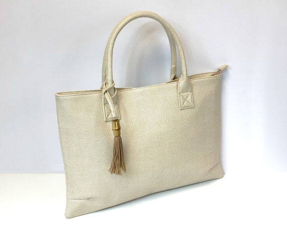 Tan Bamboo Raleigh Handbag