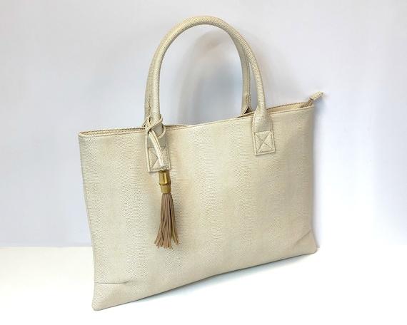 Tan Bamboo Raleigh Handbag