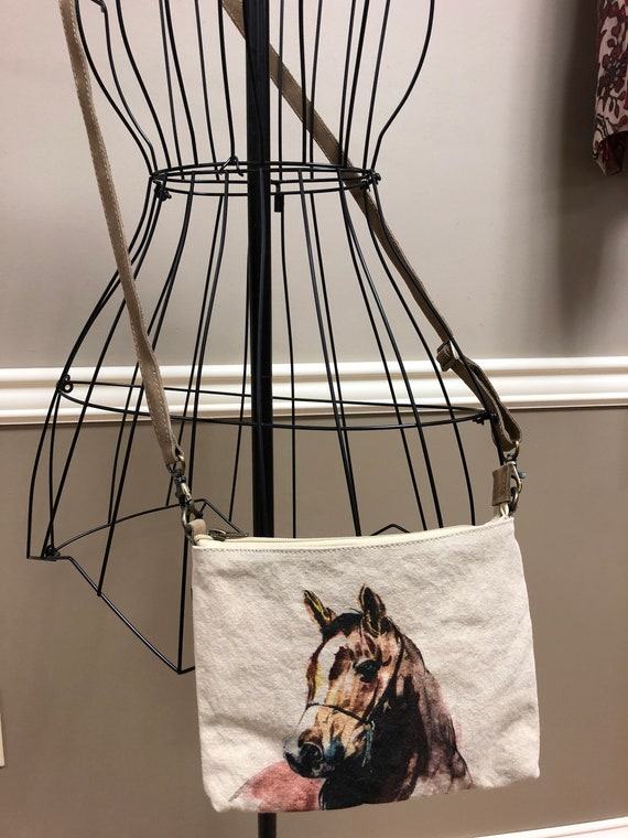 Canvas Horse Crossbody