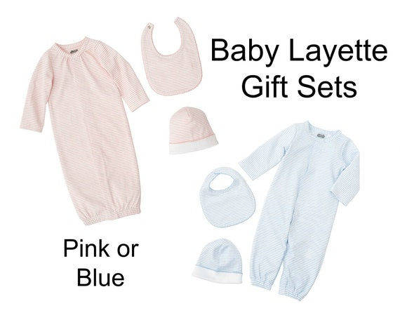 Baby Layette Gift Sets in Pink or Blue