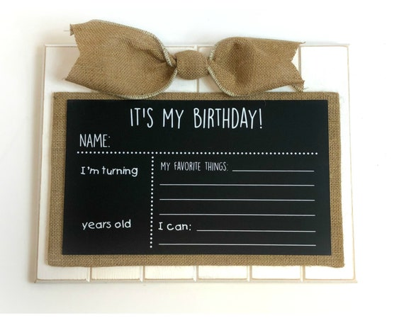 It's My Birthday!  Chalkboard Sign