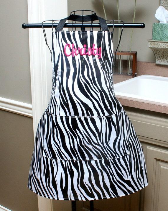 Zebra Oilcloth Apron