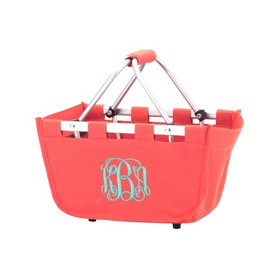 Mini Market Tote in Coral or Orange