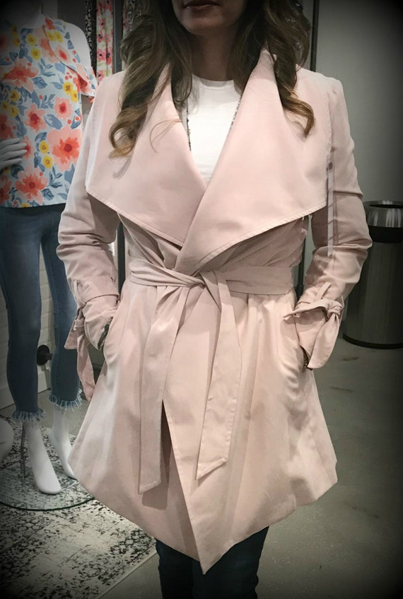 Joey Draped Jacket in Blush