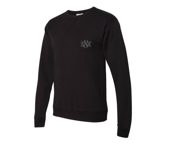 Long-Sleeved Monogrammed Sweatshirt in Black