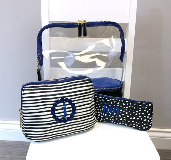 Millie Stripe and Dot 3-in-1 Cosmetic Bag