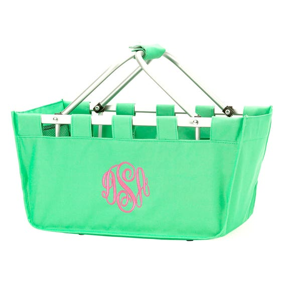 Large Market Tote in Mint Green