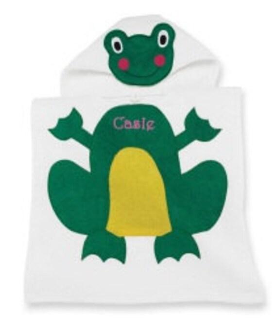 Frog Bath Towel Poncho