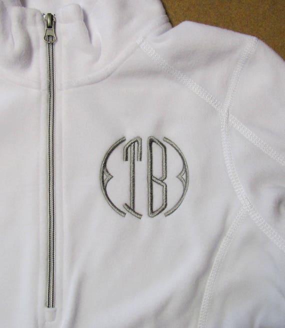 1/4 Zip Sweatshirt in White