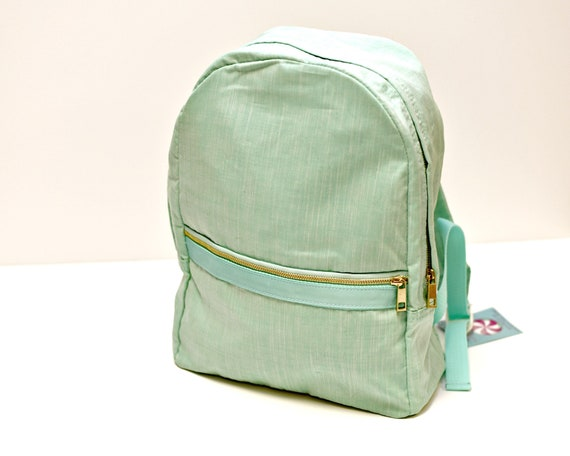 Mermaid Green Chambray Backpack
