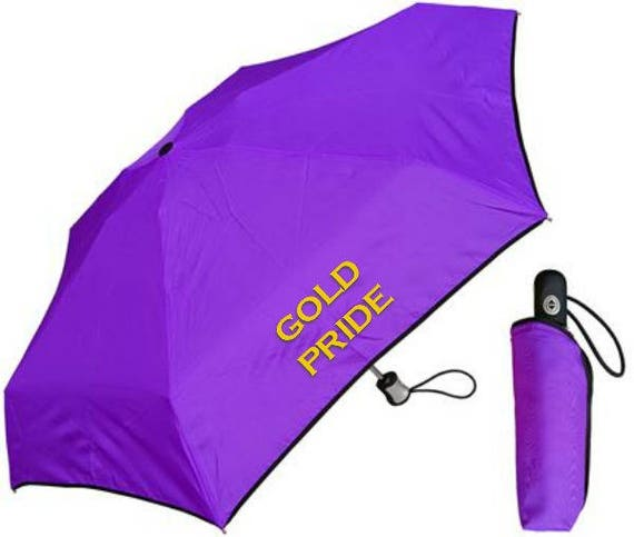 Purple Compact Umbrella with Case