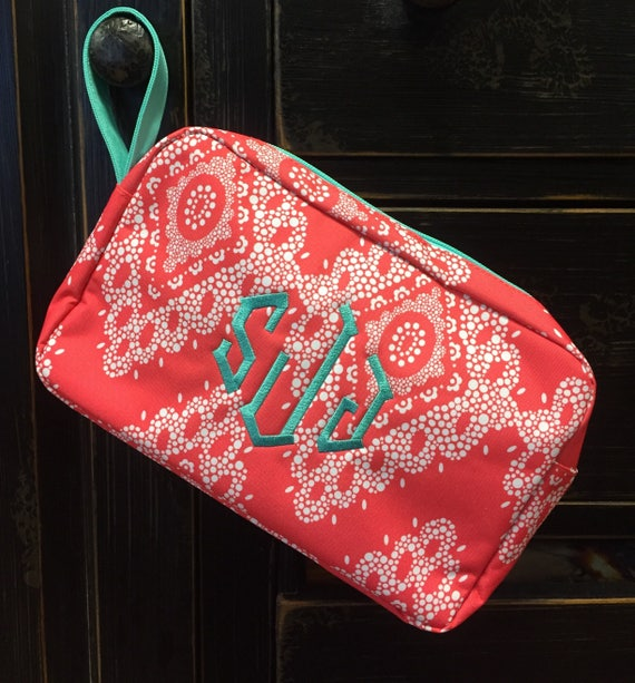 Coral Cosmetic Bag
