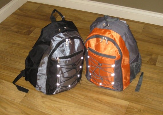 Sporty Backpacks in Orange and Grey