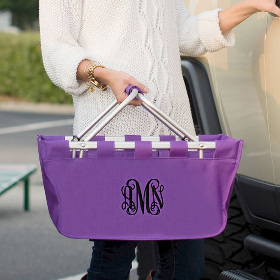 Large Market Tote in Purple