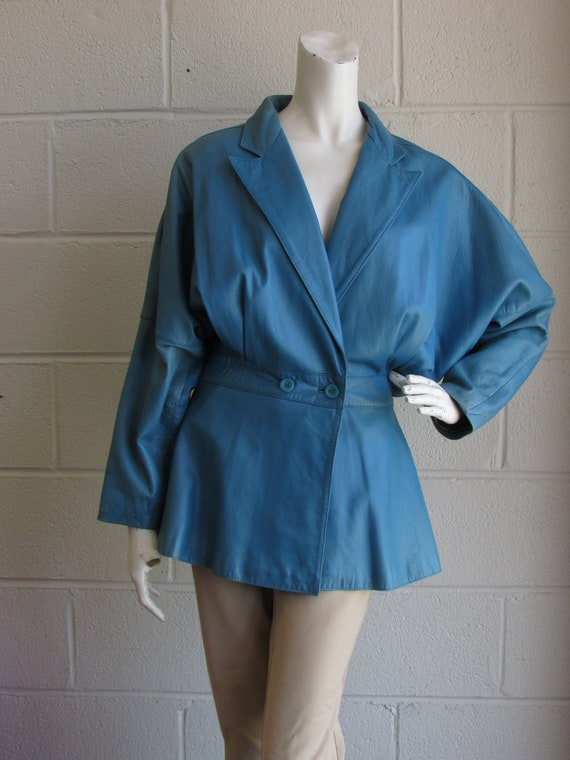 Vintage 70's Women Leather Jacket In Style, 70's T