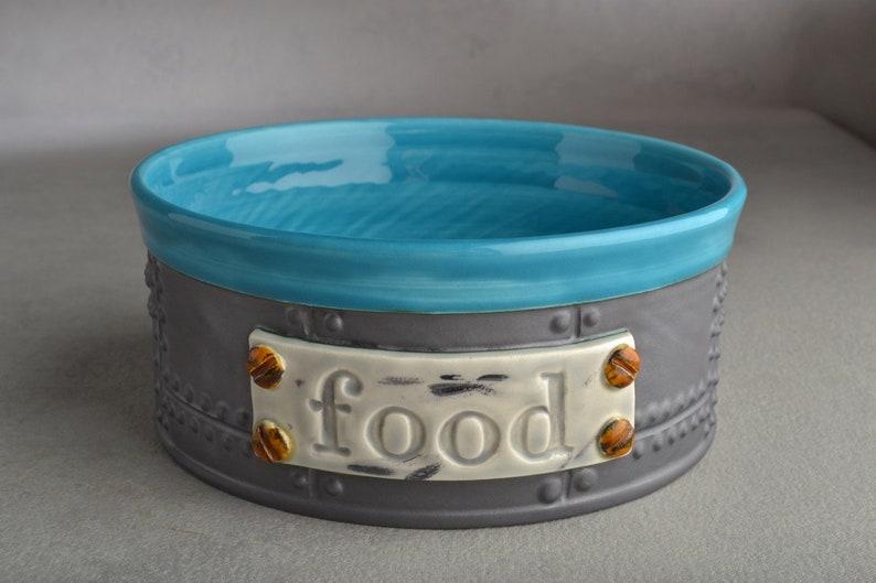 Dog Bowl Single Ready To Ship Sheet Metal 7 Dog Food Bowl by Symmetrical Pottery