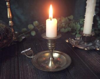 Vintage Brass Candle Holder - VBCH002