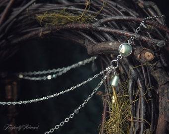 Elven Kingdom Headpiece Silver Green Labradorite 21 inches Cosplay Bridal