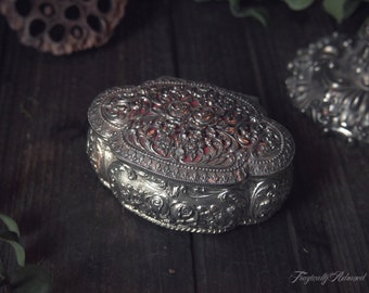 Vintage Ornate Silver Trinket Box