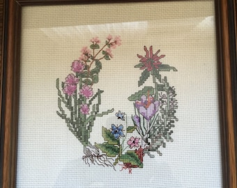 Floral Framed Cross Stitch